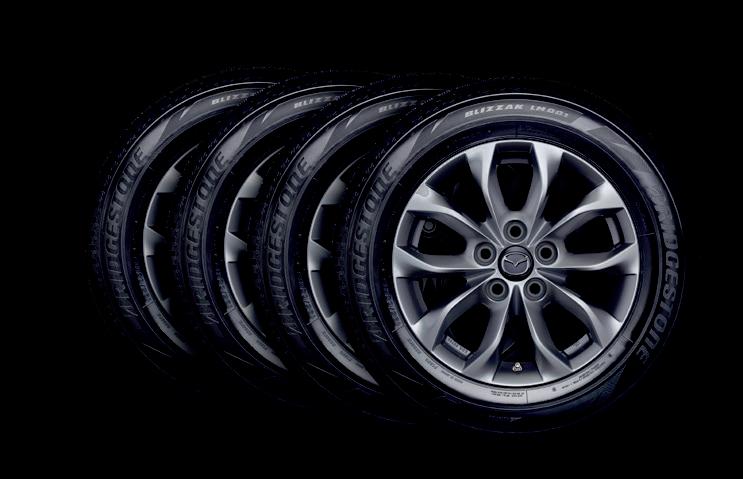 4 Mazda vinterhjul med alu-fælge