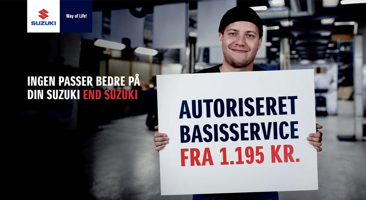 Få et autoriseret Suzuki basisservice fra kun 1.195,- kr.