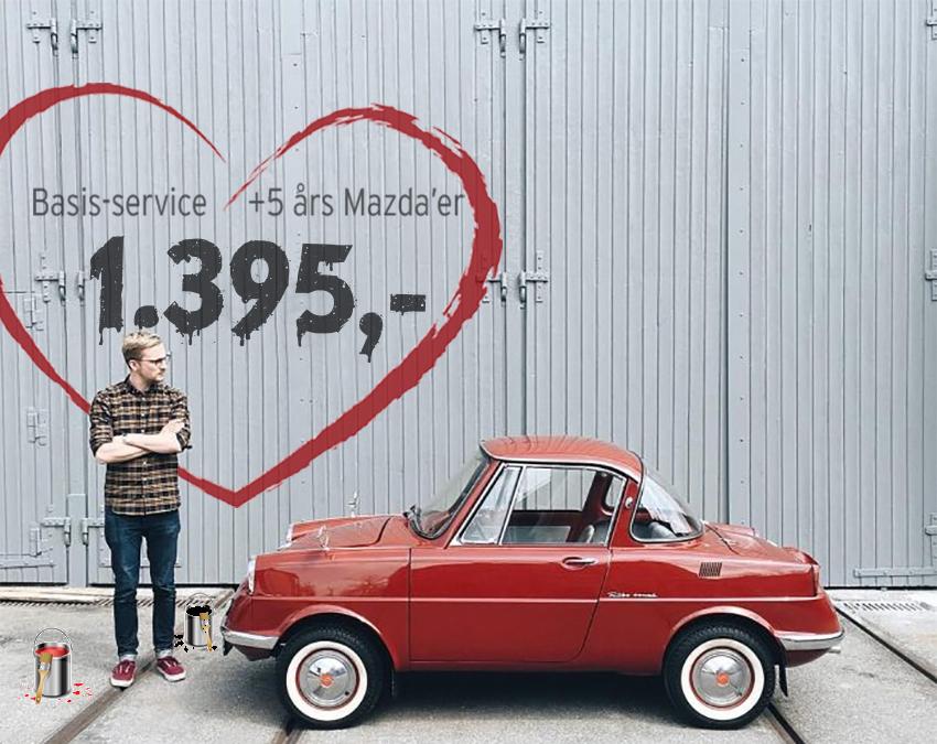 Få et autoriseret basisservice på din Mazda for 1.395 kr.