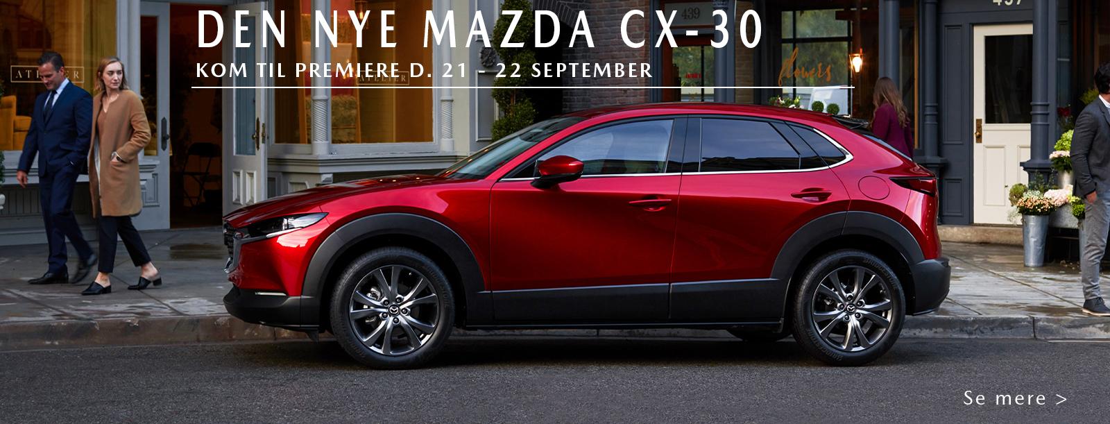 Oplev Mazdas nye SUV CX-30 hos Daugaard Biler
