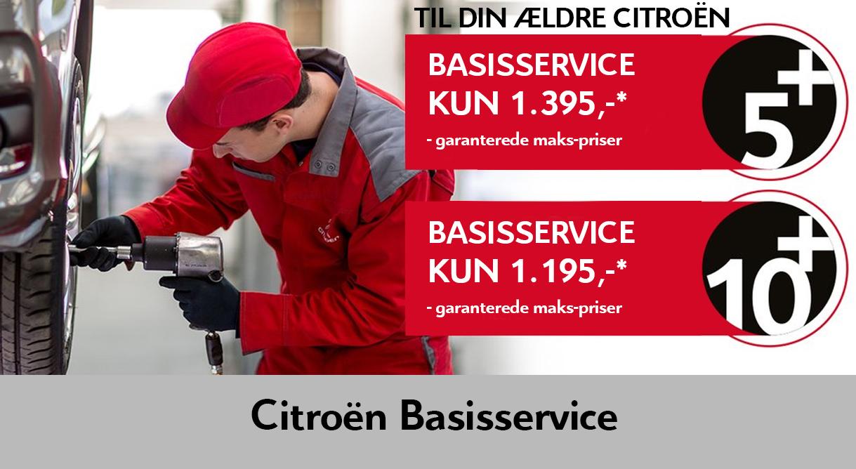 Få et autoriseret basisservice på din Citroën fra 1.195 kr.