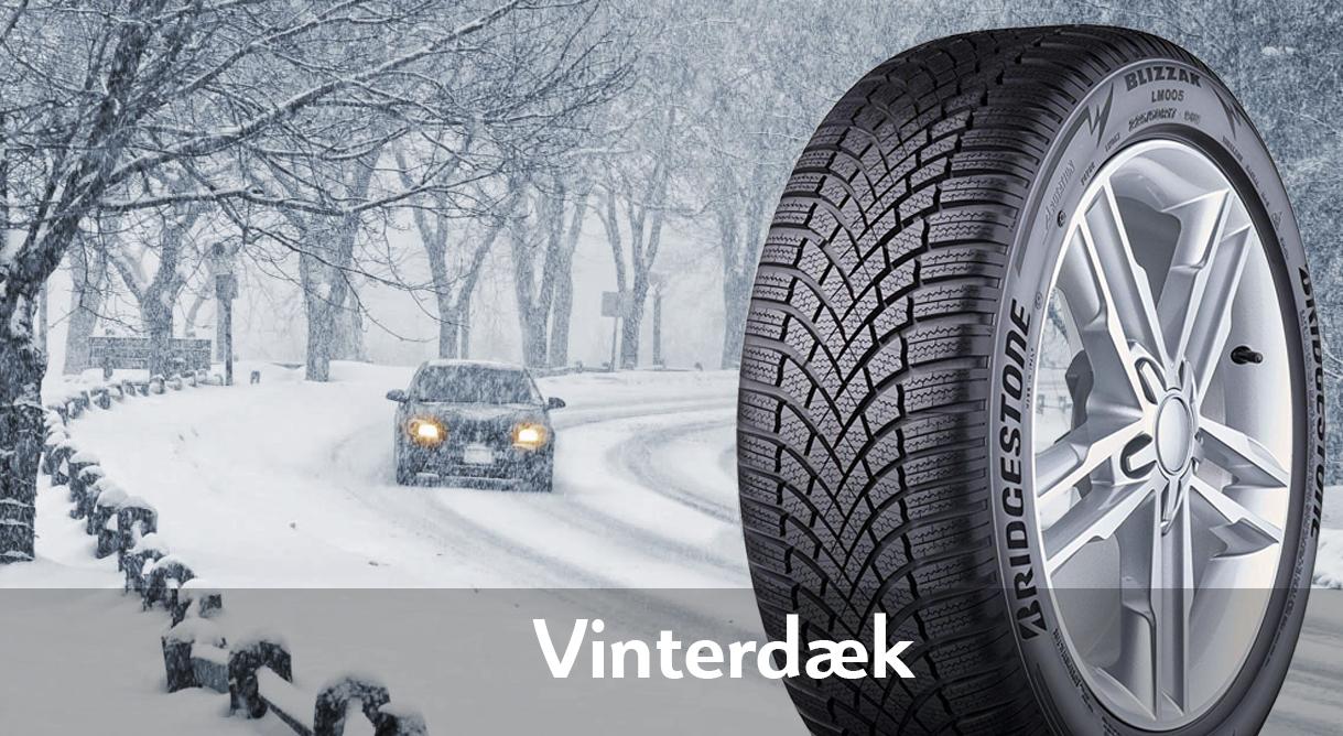 Kør sikkert gennem vinteren med vinterdæk fra kun 4.515,- kr. pr. sæt
