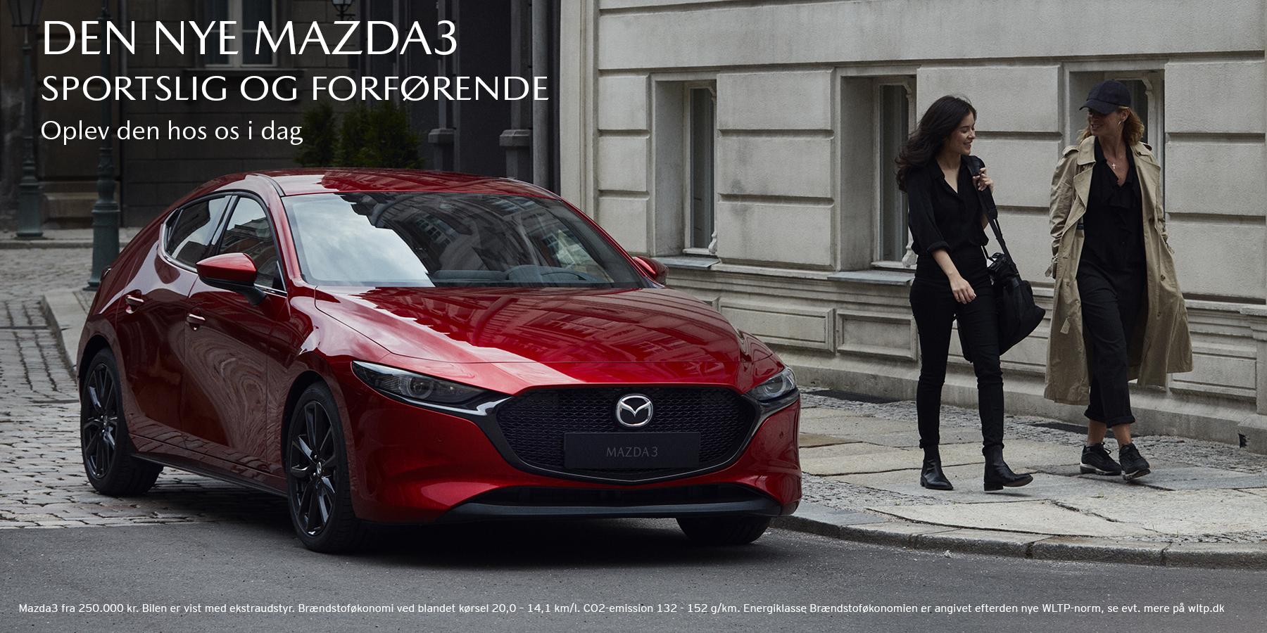 Den nye Mazda3 står klar til at give dig en eksklusiv oplevelse i alle vores forretninger