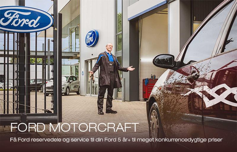 Få et Ford Motorcraft +5 service fra 1.395,- kr.