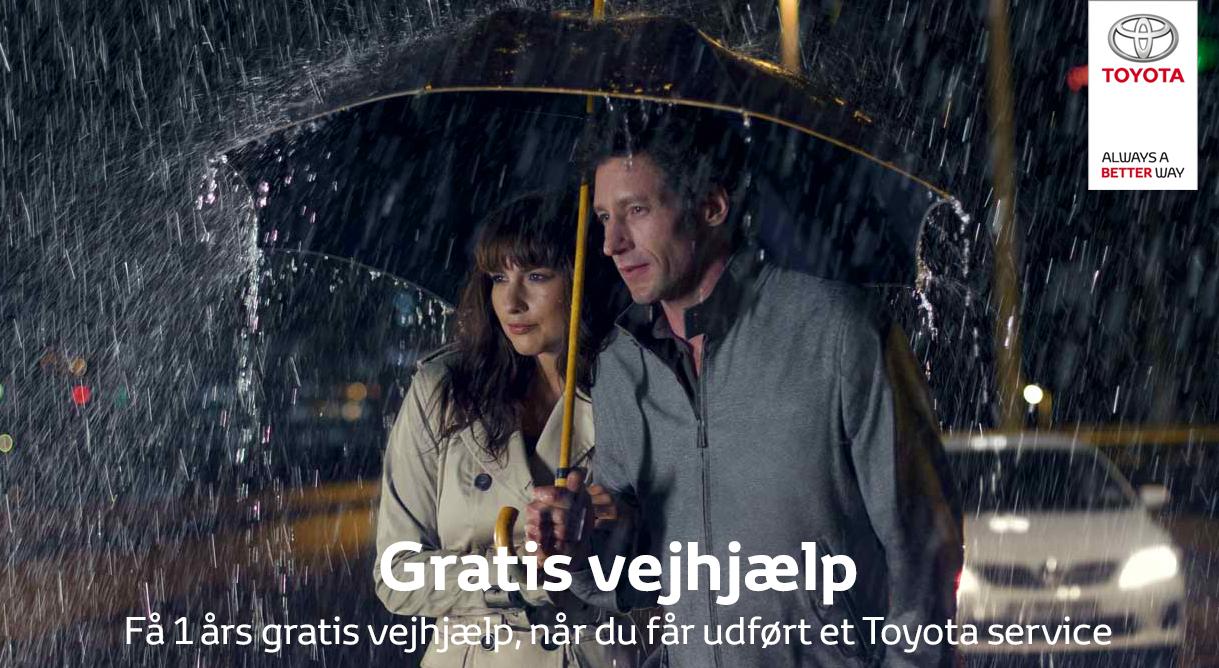 Få et års gratis vejhjælp sammen med et aut. Toyota service