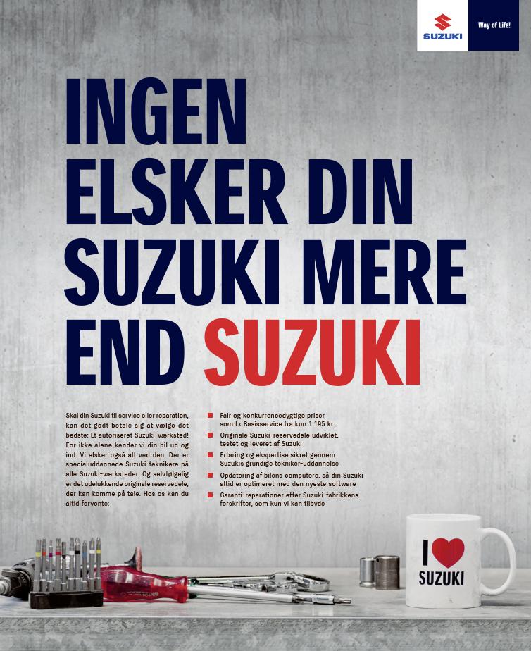 Ingen elsker din Suzuki mere end Suzuki