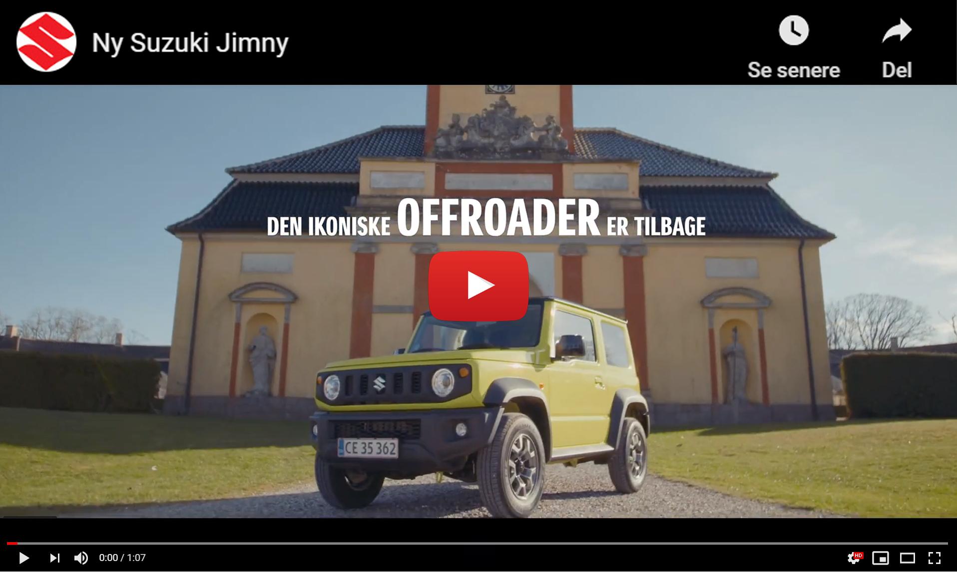 Ny Suzuki Jimny - Oplev en ægte offroader hos Daugaard Biler