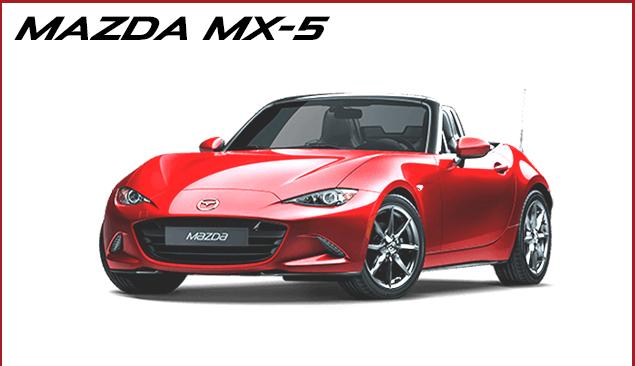 Prøv den nye Mazda MX-5 hos din Mazda forhandler i København, Gladsaxe og Glostrup, Daugaard Biler A/S