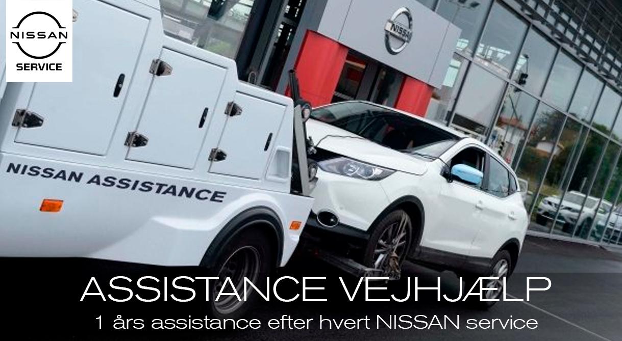 Få Nissan Vejhjælp Assistance sammen med et aut. Nissan serviceeftersyn