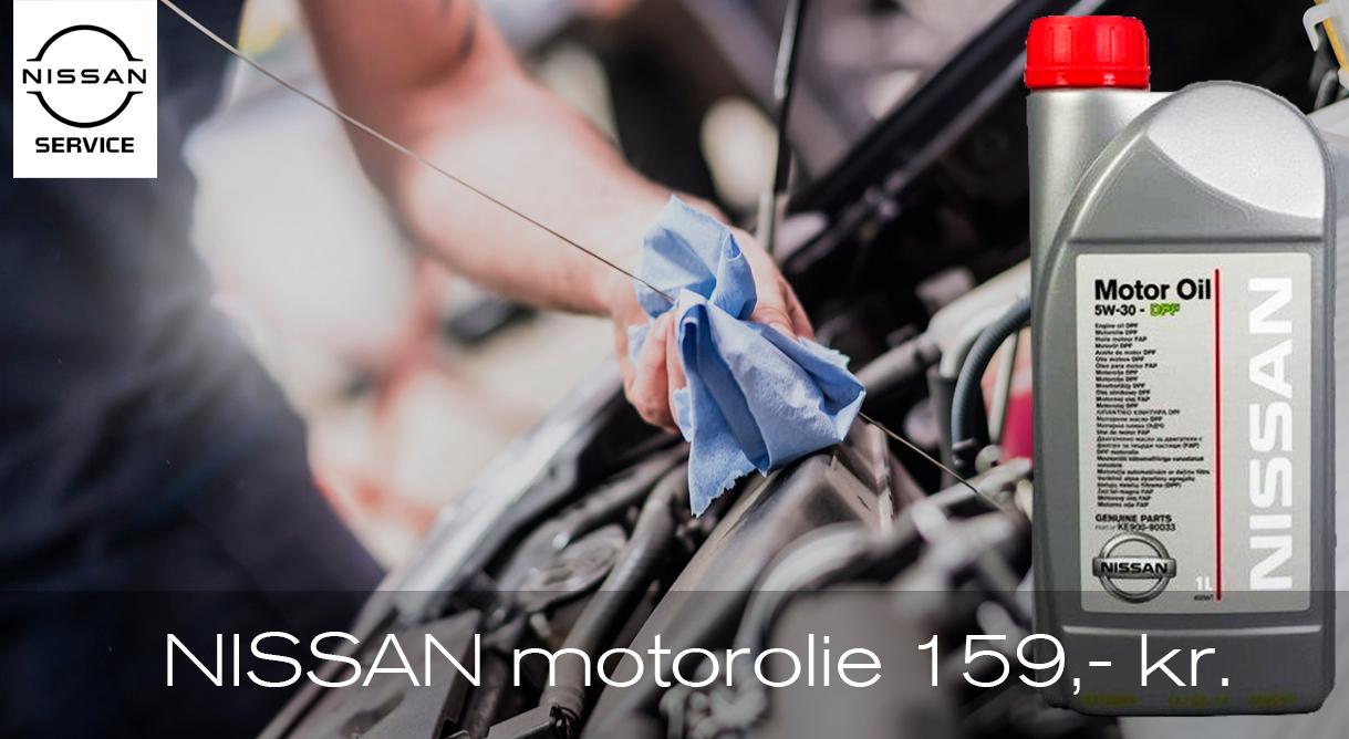 Husk ekstra motorolie der passer til din Nissan