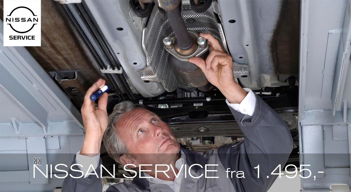 Få et autoriseret Nissan service fra kun 1.495,- kr.