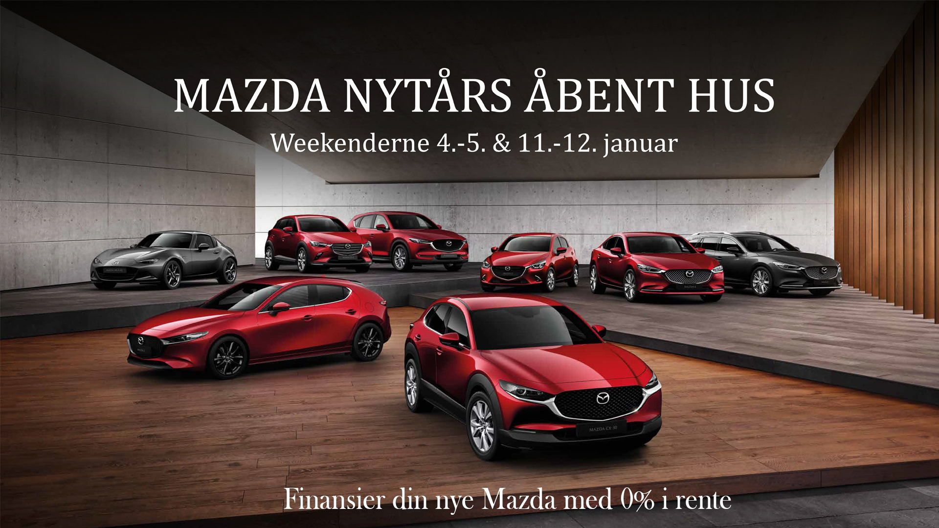 Køb en ny Mazda og finansier den med 0 % i rente