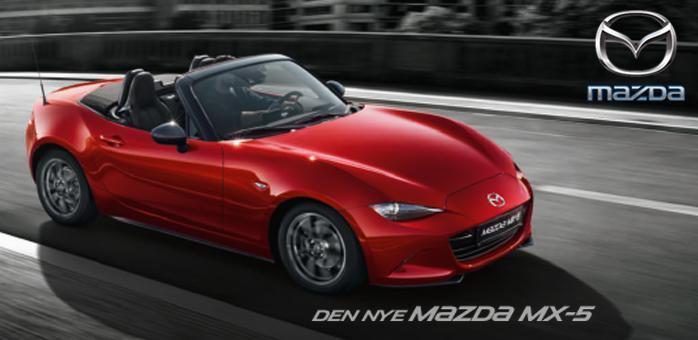 Vi er klar med en roadstar oplevelse med Mazda MX-5
