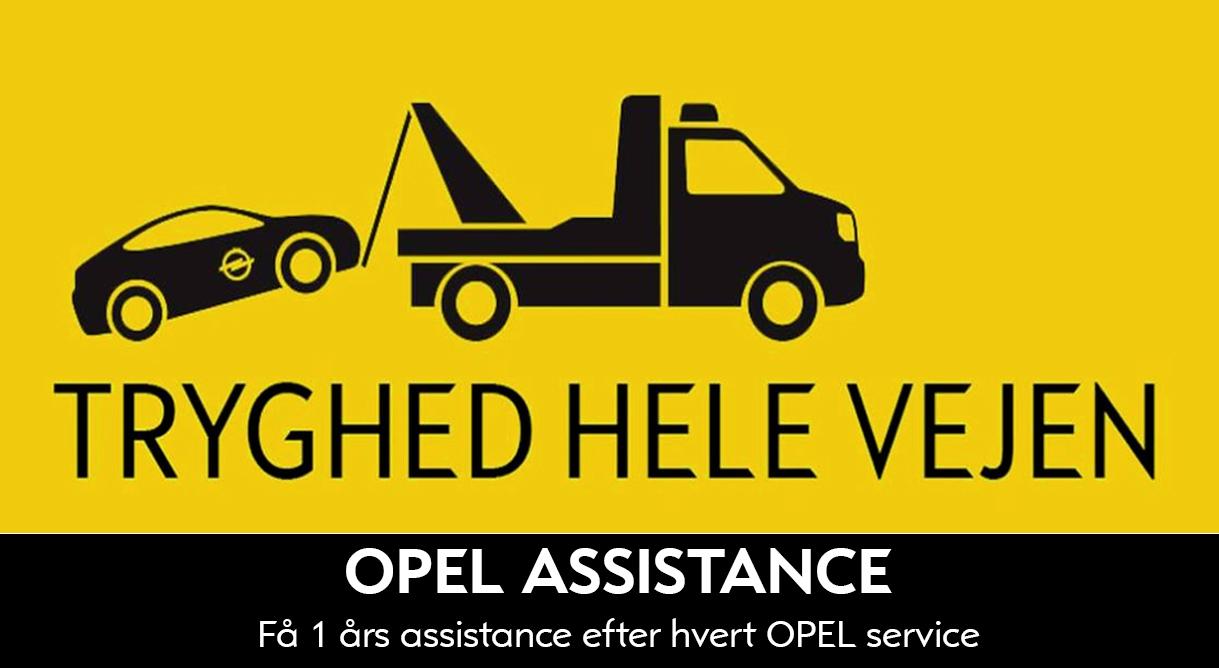 Få et års Opel Assistance efter dit Opel serviceeftersyn