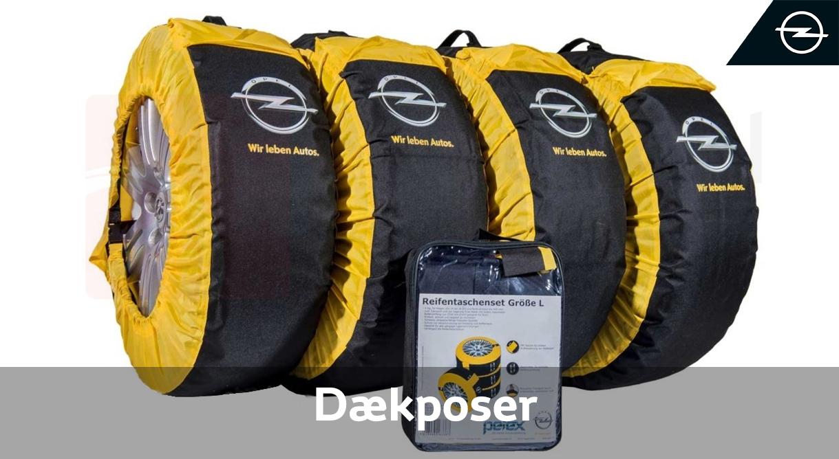 Beskyt fælge for ridser og dig selv for snavs med praktiske Opel dækposer