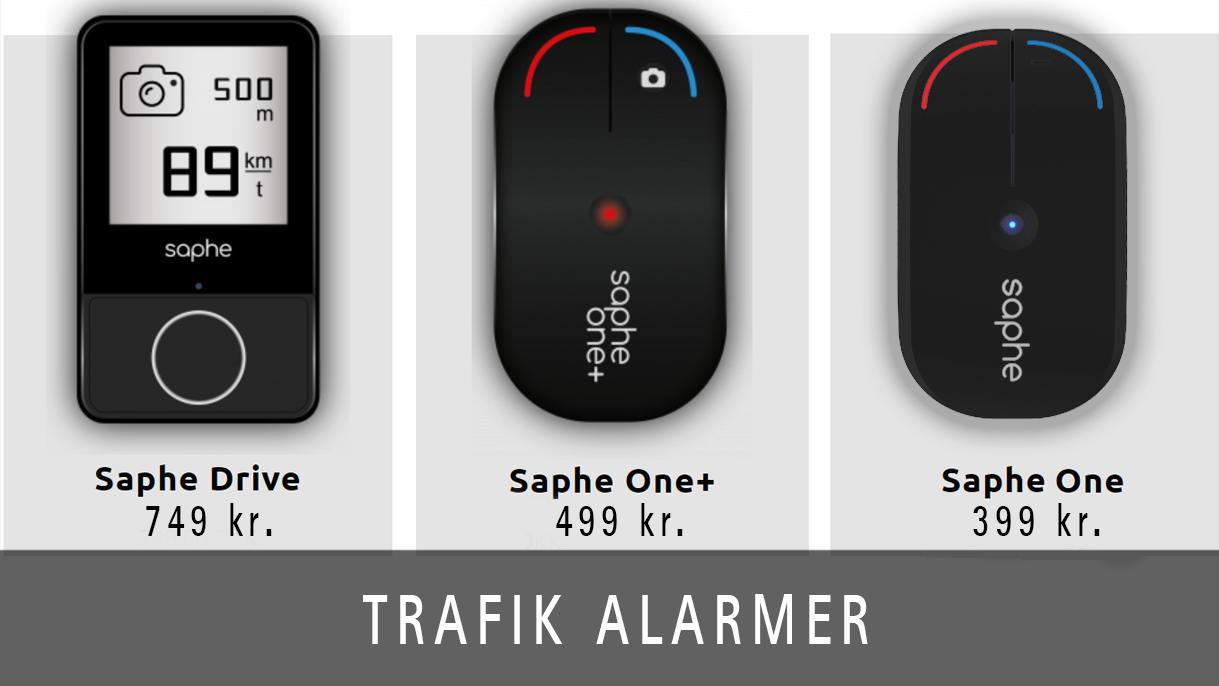 Trafikalarmer fra Saphe hjælper dig i trafikken - også mod fartbøder