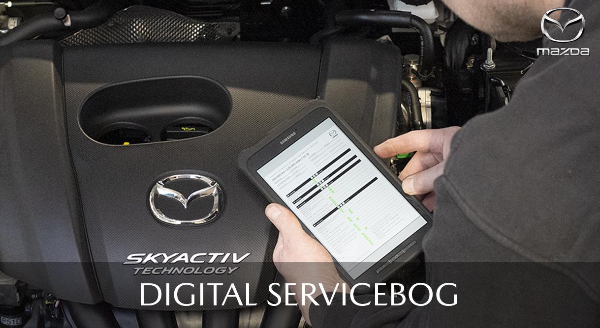 Vi registrerer din bils service i Mazdas digitale servicebog