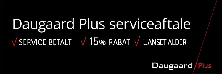 Få en Daugaard Plus serviceaftale fra kun 203 kr/md. - det betaler sig