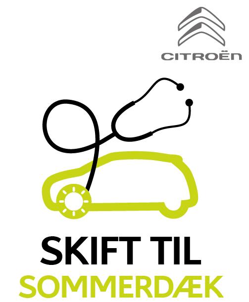Vi skifter din Citroëns vinterdæk til sommerdæk ud og tilbyder samtidig dækhotel