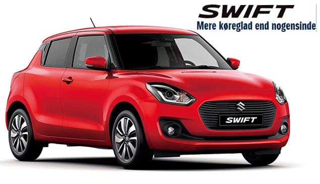 Prøv den nye Suzuki Swift hos din Suzuki forhandler i København, Daugaard Biler A/S