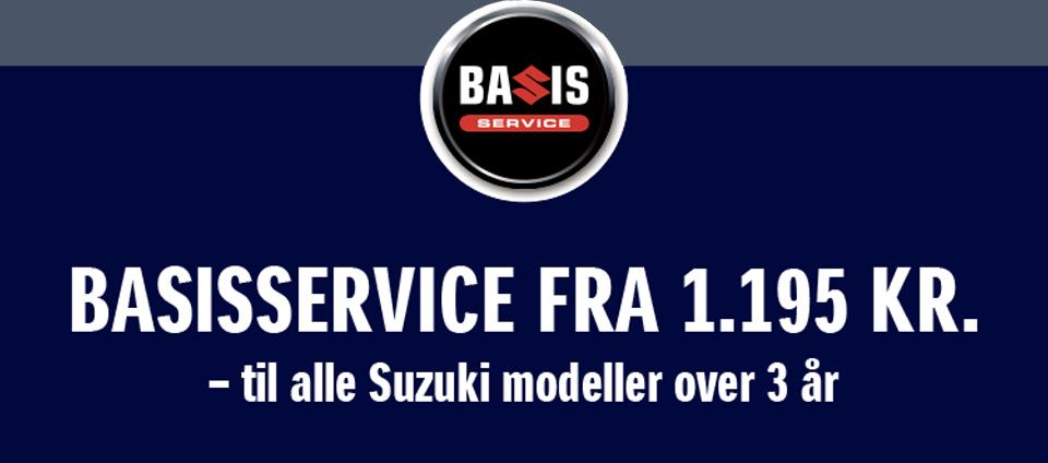 Book et Suzuki Basisservice til kun 1.195,-