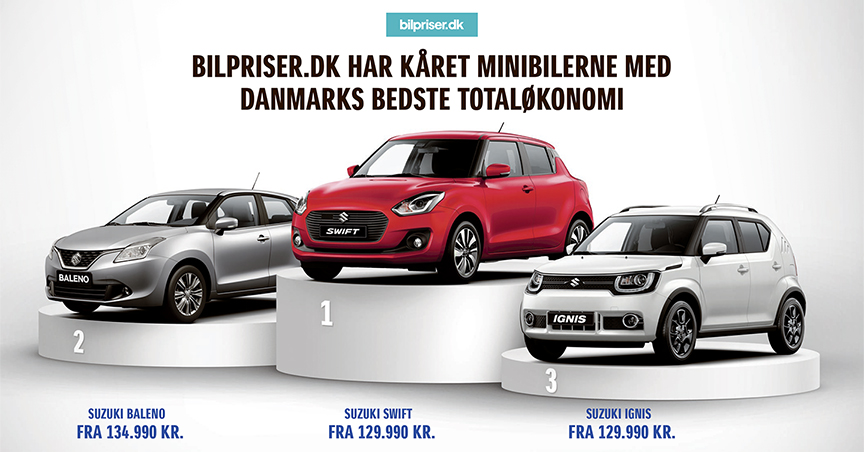 Suzuki er BILLIGST. Få syn for sagen hos Suzuki København - Daugaard Biler A/S