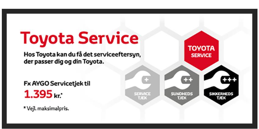 Få et autoriseret Toyota Servicetjek fra 1.395 kr.
