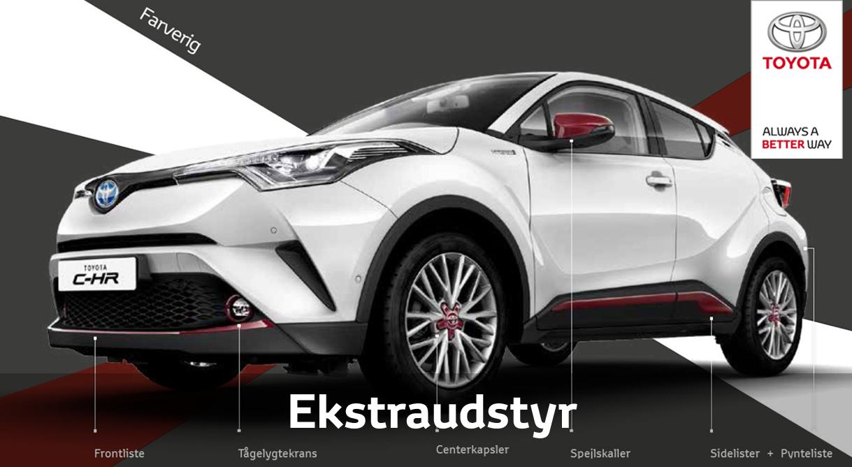 Tilpas efter smag og behag din Toyota med originalt ekstraudstyr
