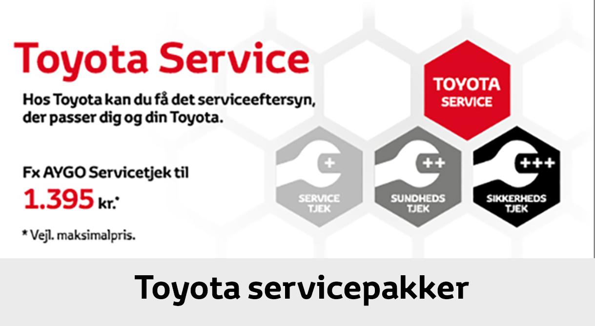 Få et autoriseret Toyota Servicetjek for kun 1.395,- kr.