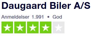 Se Daugaard Bilers Trustpilot anmeldelser