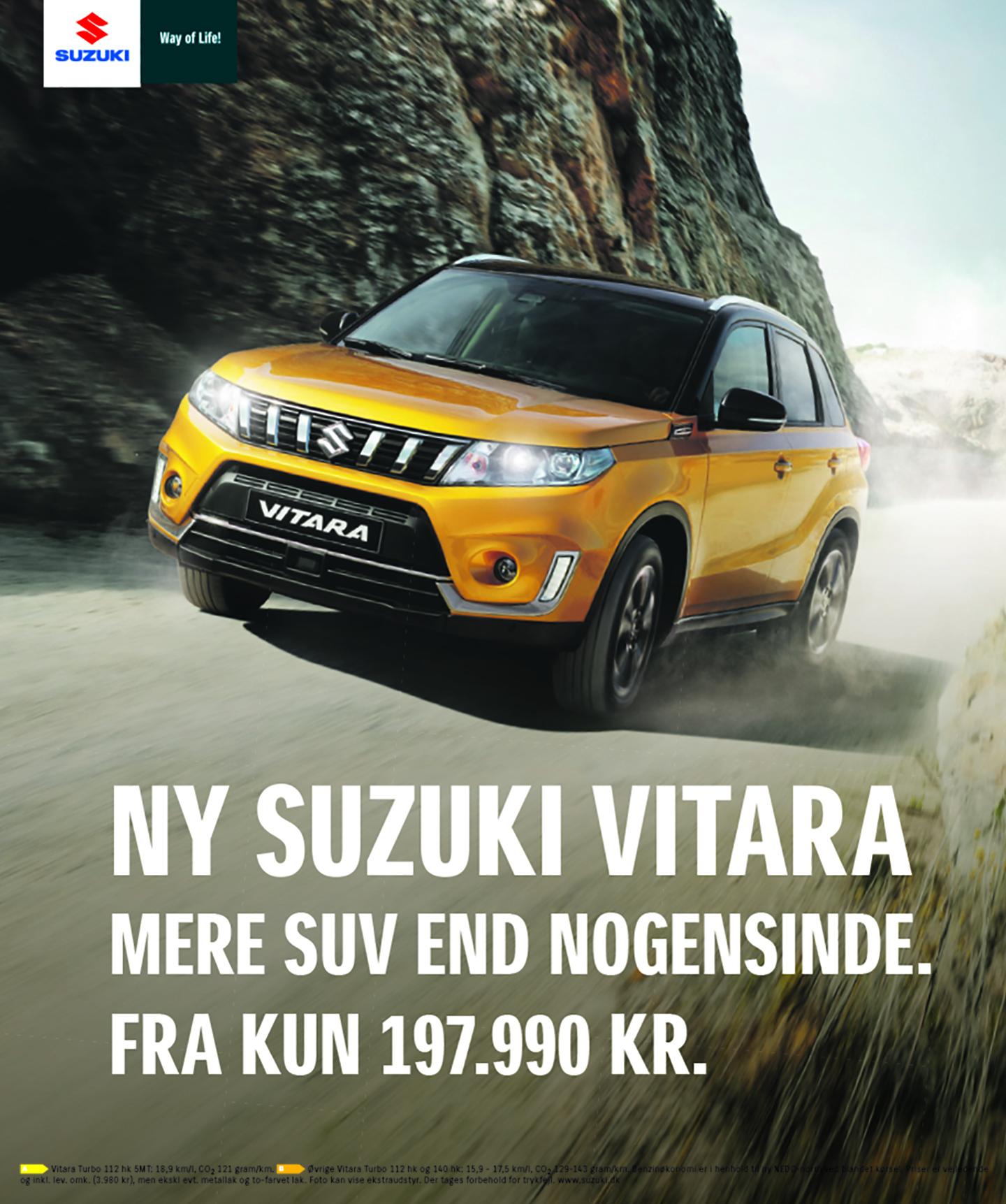 Vi er klar med den nye Suzuki Vitara